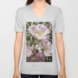 Cool And Luminous Summer Roses Unisex V-Neck