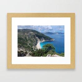 Myrtos beach, Kefalonia - Greece Framed Art Print