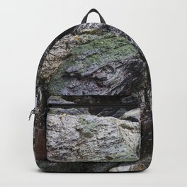 Cornish Waterfall Over Mossy Cliff Backpack