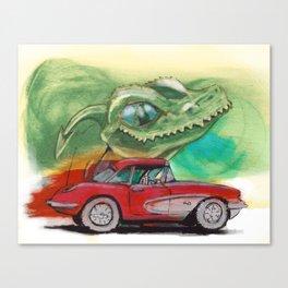 Raptors love vettes Canvas Print
