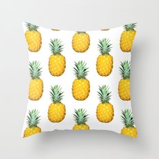 Big Pineapples Throw Pillow