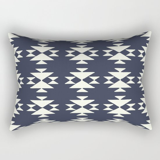 Modern Triangle Shape Pattern in Navy Blue by junejournal