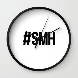 Hashtag SMH Wall Clock