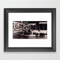 Bad weather today! Framed Art Print