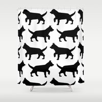 dogs Shower Curtains featuring Dogs  by Rose Richey