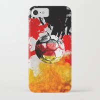 germany iPhone & iPod Cases featuring  football germany by seb mcnulty