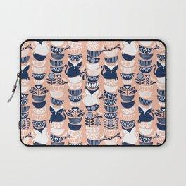 Swedish folk cats V // flesh background Laptop Sleeve