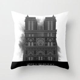 HexArchi - France, Paris, Cathedral of Notre Dame de Paris Throw Pillow
