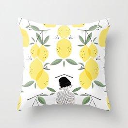 Lady of Lemon Drops Throw Pillow