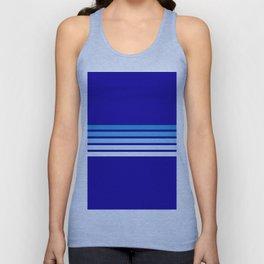 Retro Stripes on Blue Unisex Tank Top