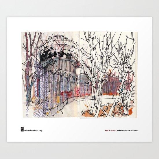 """Rolf Schröter, """"Teufelsberg"""" Art Print"""