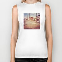 memphis Biker Tanks featuring Memphis Street by wendygray