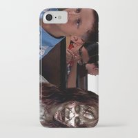 three of the possessed iPhone & iPod Cases featuring POSSESSED REGAN IN FORREST GUMP by Luigi Tarini