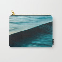 Blurred deep blue ocean swell wave California Carry-All Pouch