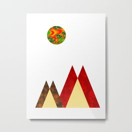 Geometric print mountain scandinavian print Metal Print