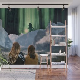 Childhood Over The Mountain Calling Wall Mural