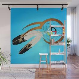 dreamcatcher blue Wall Mural