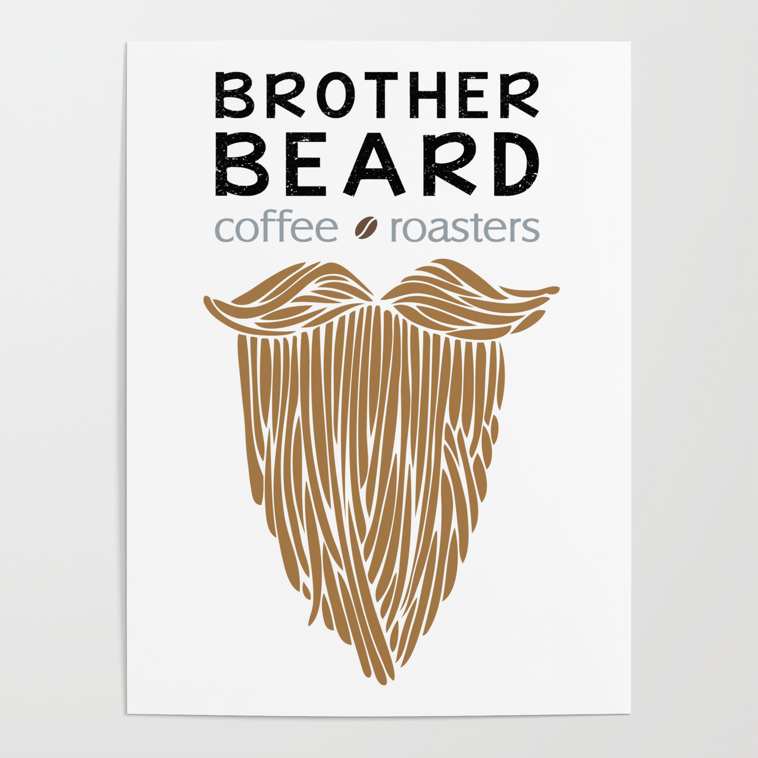 brother beard logo poster by johara society6 brother beard logo poster by johara