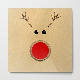 Reindeer Rudolph's Red Nose  Metal Print