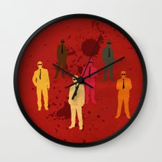 Six Angry Dogs Wall Clock