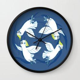 Cockatoo Angels (Blue) Wall Clock