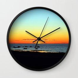 Traditional Seaside Sunset Wall Clock