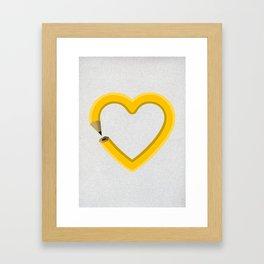 Love to draw Framed Art Print