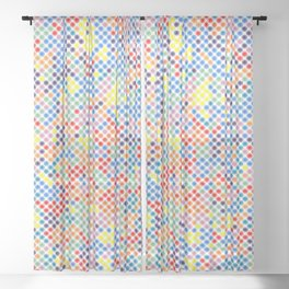 Dot ... Dot ... Dots ... Interior Fabric Artwork Pattern Sheer Curtain