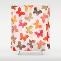valentina Shower Curtains featuring BUTTERFLY SEASON by Daisy Beatrice