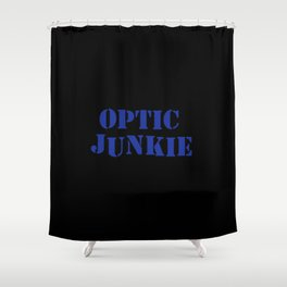 Optic junkie music quote Shower Curtain