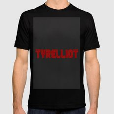 Tyrelliot Typography Mens Fitted Tee MEDIUM Black