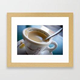 Sidewalk Coffee Framed Art Print