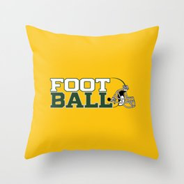 Football in Green and Yellow. Throw Pillow