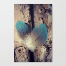 Feather blues Canvas Print