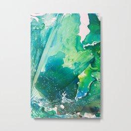 Environmental Importance, Deep Sea Water Bubbles Metal Print