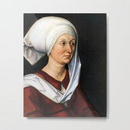 Portrait of Barbara by Albrecht Dürer Metal Print