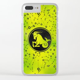 Capricorn Zodiac Sign Earth element Clear iPhone Case