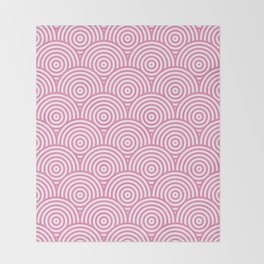 Scales - Pink & White #234 Throw Blanket