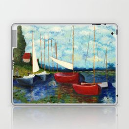 """Artistic Impression of Claude Monet's """"Red Boats at Argenteuil"""" Laptop & iPad Skin"""