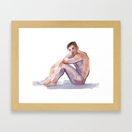 MAX, Semi-Nude Male by Frank-Joseph Framed Art Print