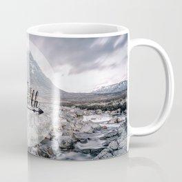 Have Faith Inspirational Typography Over Mountain Coffee Mug