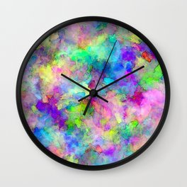Abstract Patches of Color Wall Clock