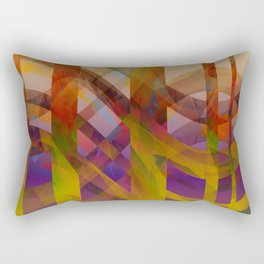 Abstract Design colorful abstract art by Ann Powell Rectangular Pillow