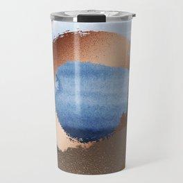 Inspiration: Gold, Copper And Blue Travel Mug