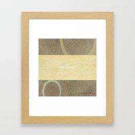 Relax Modern Art w/ Corbin Henry Signature Framed Art Print