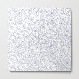 Fly EYES - Patterns BLUE - flowers, floral Metal Print