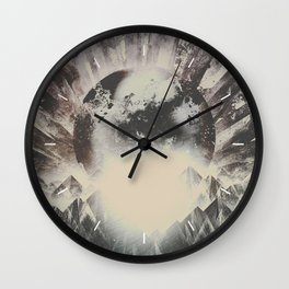 New day new mountains to climb Wall Clock