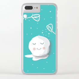 Building a snowball Clear iPhone Case