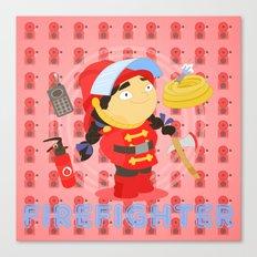 Firefighter Canvas Print