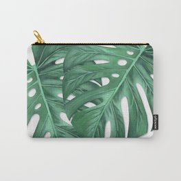 Monstera Tropical Leaf Painting Carry-All Pouch